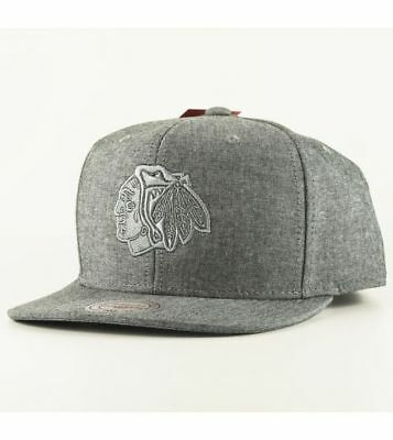 Mitchell & Ness Chicago Blackhawks Snapback Grey Italian Washed Hat Cap