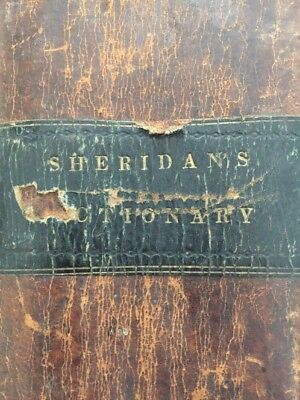 Scarce 1790 Sheridan's DICTIONARY PROSODIAL GRAMMAR 2 Volumes In One