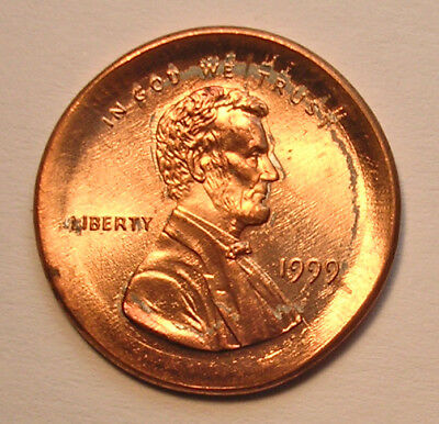 1999 Cent Large Broadstrike Centered, Gem Bu - See Other Auctions