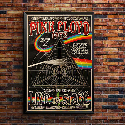 Pink Floyd Vintage Music Concert Poster Wall Art Print Picture Retro A3 A4-5