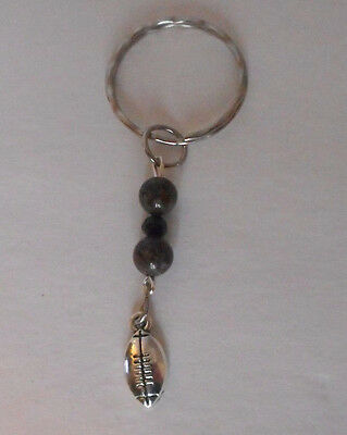 handcrafted zipper pull backpack charm football