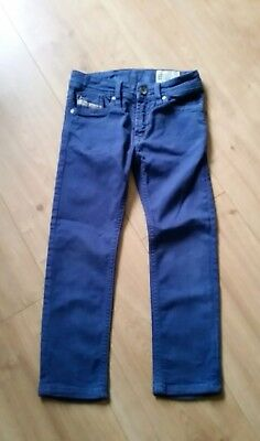 🐝 Diesel Boys/Girls 'Waykee' Straight Leg Stretchy Blue Jeans Age 4 Years