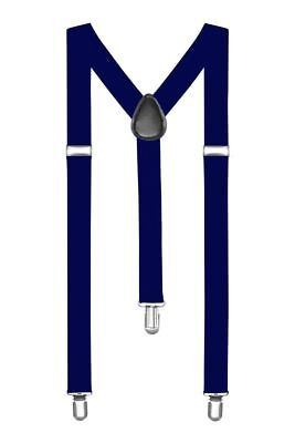 Boolavard® TM Braces / Suspenders One Size Fully Adjustable Y Shaped With Strong