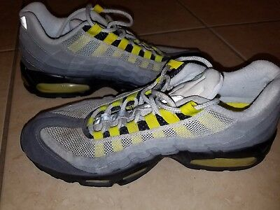buy popular c77b3 b0f5f NIKE AIR MAX 95 - Vintage 1995 - Not a Retro or Reissue - Gray/Neon - 22  yrs old
