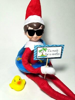 Elf on the shelf  accessories and props rubber duck  float