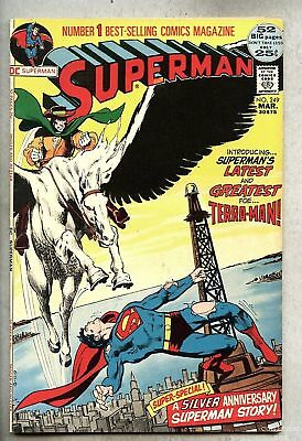 Superman #249-1972 fn  Neal Adams / 1st Terra Man