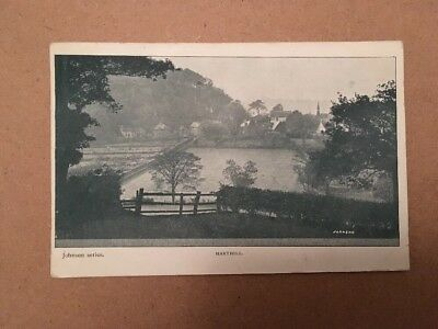 HARTHILL 1905 Johnson Series Postcard Stamped Twice With Stamp Too