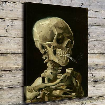 Skull of A Skeleton Poster HD Print on Canvas Home Decor Room Wall Art Picture