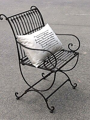 FRENCH garden antique black CHAIR WROUGHT IRON  QUALITY NEW