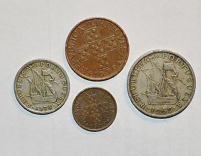 Portuguese coins PORTUGAL 50 20 5 2 1/2 centavos foreign world ship lot