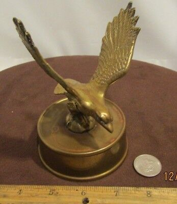 Vintage Art Deco Bronze Or Brass American Eagle Desk Statue - Paper Weight