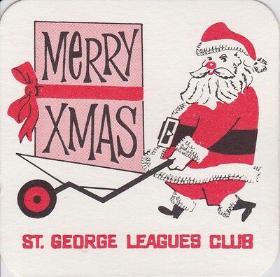 St George Leagues Club Dragons Collectable Vintage Coaster 1970s era