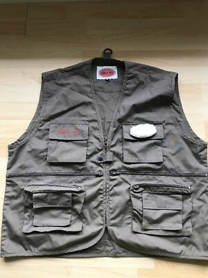 10 Pocket Fly Fishing Vest Size XL Force Ten Angling Trout Free Postage