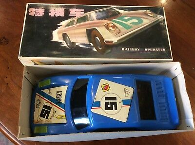 Old Acrobatic Car Toy Antik China Toy ME 833 battery operated, very rare, boxed