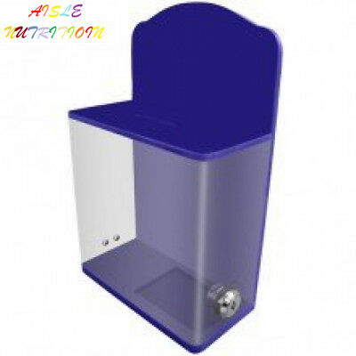 My Charity Boxes - High Quality Locked Donation Box with Back Wall Curved...