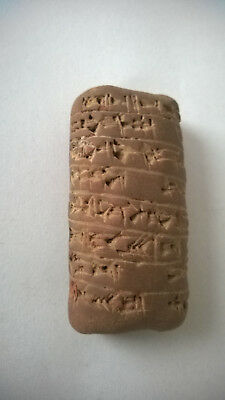 Interesting old cuneiform clay tablet  Dimensions abaut: 60 x 30 mm.
