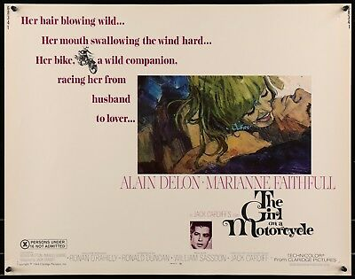 THE GIRL ON A MOTORCYCLE original film / movie poster - Marianne Faithfull