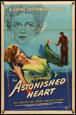 THE ASTONISHED HEART original film / movie poster - Noel Coward