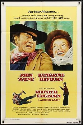 ROOSTER COGBURN original film / movie poster - John Wayne