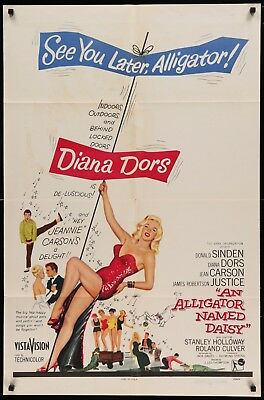 AN ALLIGATOR NAMED DAISY original film / movie poster - Diana Dors
