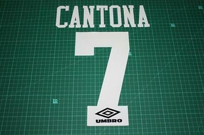 Flocage CANTONA n°7 blanc pour maillot MANCHESTER UNITED  patch football