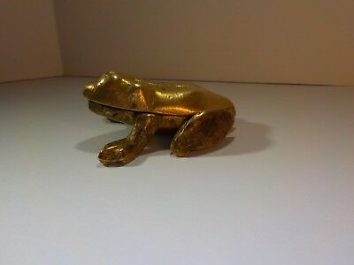 Small Brass Frog Trinket Box Hinge