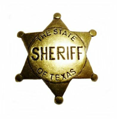 Anstecker Pin Sheriffstern Sheriff The State of Texas Western Country Cowboy