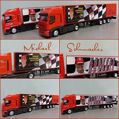 Michael Schumacher 2 Trucks Formel 1   1:87 Mini Truck