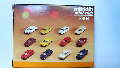 Marklin 8904 Z Scale Cars Automobile BMW VW Mercedes Kit 12-Packin OVP
