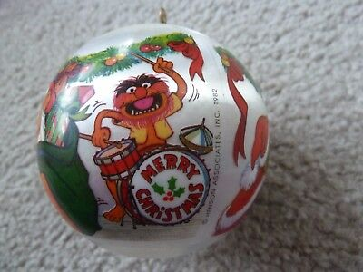 HALLMARK Muppets Party 1982 Unbreakable Satin Christmas Ornament Animal Fozzie
