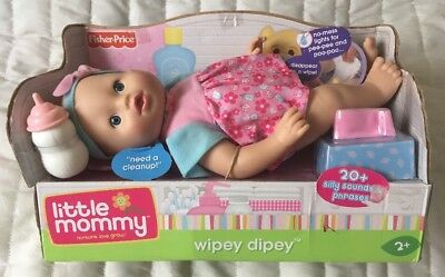 Little Mommy Wipey Dipey Doll Brand New In Original Packaging Fast Free Shipping
