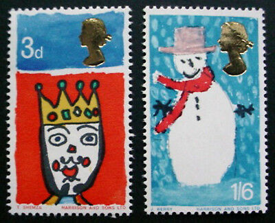 Great Britain 1966: Christmas: Set Of 2 Mnh Stamps
