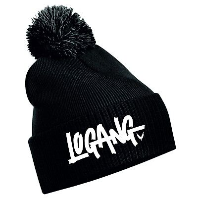 LOGANG Youtuber Vlogger Bobble Beanie Lots Of Colours - Cotton Custom Hat Gift