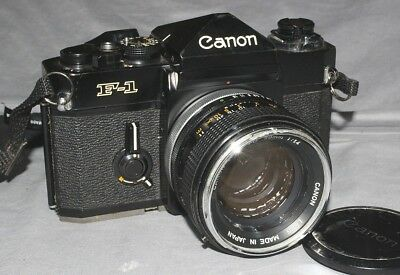Old Canon F1 35mm Camera w/ 50mm F/1.4 Lens Needs Repair