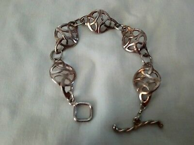 solid sterling silver celtic style bracelet fully hallmarked