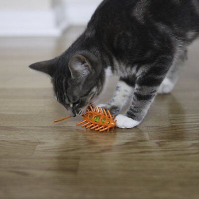 L'Chic Moto Mouse Fun Stimulating Cat Pet Toy Orange Chase and Play Soft Plastic