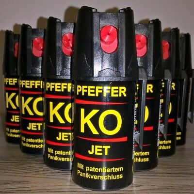 Pfefferspray  KO JET 10 Dosen je 40ml. 29,99 Euro  Made in Germany MHD  10/2021