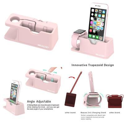 Iphone Iwatch Pink Stand Charge Station For Apple Watch Dock Holder 38/ 42Mm Us