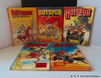 Hotspur annuals x 5 (vintage 1980's) GC & UNCLIPPED
