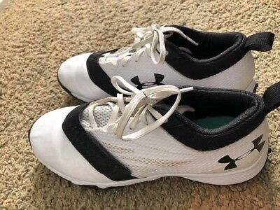 UNDER ARMOUR Women's Lacrosse Field Hockey White Black Turf Cleats Shoes Size 10