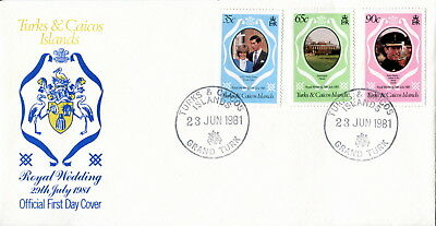1981 Turks & Caicos Islands. Royal Wedding of Prince Charles and Lady Diana. FDC