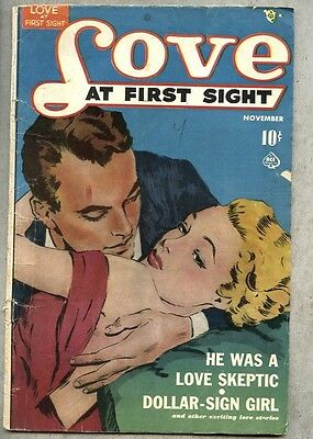 Love At First Sight #6-1950 gd+ Ace Romance / 4 stories