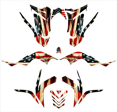 Yamaha Raptor 700 graphics 2006-12 full coverage decal kit Old Glory Flag Theme