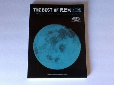 R. E. M. BEST of REM In Time 1988 - 2003 Authentic Guitar Tab Ed Music Song Book