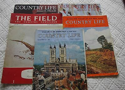 Job Lot Vintage Magazines Country Life The Field