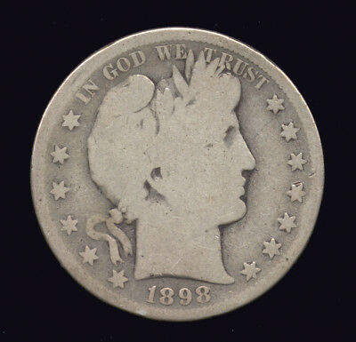 1898-S  ...  Better Date  ...  Barber Half Dollar Silver (422-112)