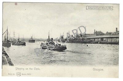 Early 1900s 'hold to light' Printed PC Shipping on the Clyde
