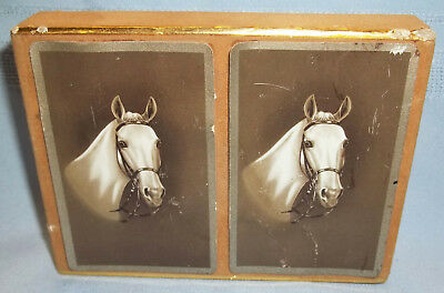 *2 Sealed Packs Of Vintage Congress Cel-U-Tone Horse Head Playing Cards In Box*