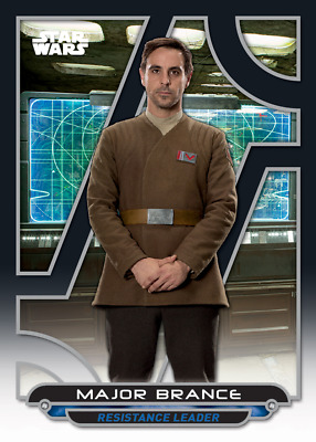Topps Star Wars Card Trader Galactic Files The Force Awakens Major Brance