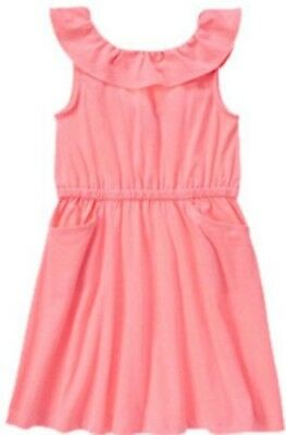 NWT Gymboree Girls Bright and Beachy Neon Pink Dress Size 4 & 5